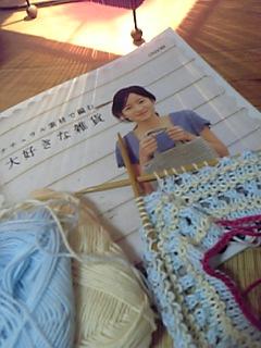 棒針編みのニット帽