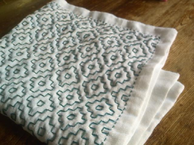 久しぶりの投稿一目刺しの布巾